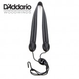 Rico Fabric Sax Strap (Jazz Stripe) with Metal Hook