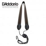 Rico Fabric Sax Strap (Jazz Stripe 2) with Metal Hook