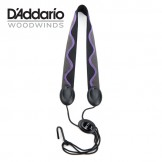 Rico Fabric Sax Strap (Jazz Wave) with Metal Hook