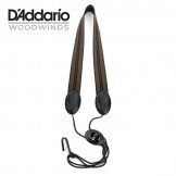 Rico Fabric Sax Strap (Jazz Stripe 2) with Metal Hook