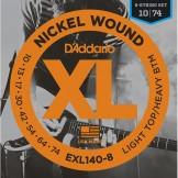 EXL140-8 Nickel Wound, 8-String, Light Top/Heavy Bottom, 10-74