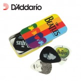 Picks Tins with Assorted Beatles Picks 15BT2, Stripes